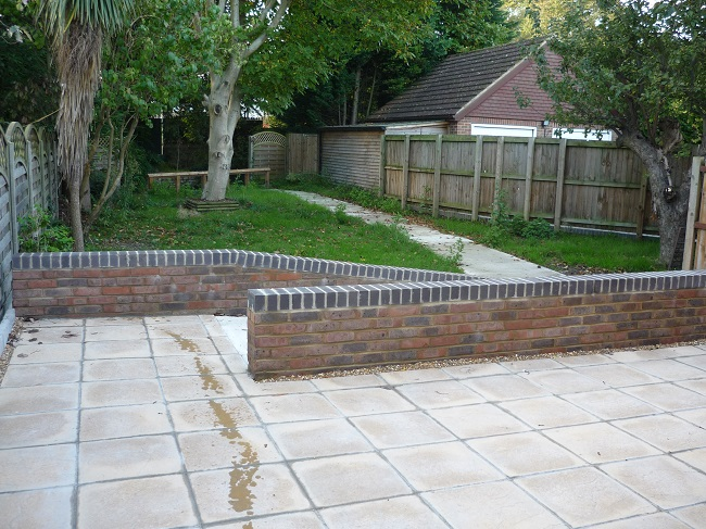 Raised Patio And Ramped Access To Garden